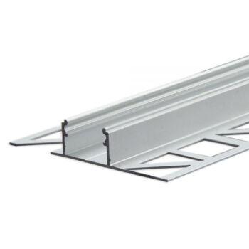 LED T-profil hidegburkolat, csempe dekorációhoz, lapok közé, ezüst eloxált alumínium, 2m