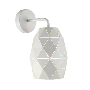 ITALUX HARLEY texturált burával fali lámpa fehér, E27, IT-MBM-3480/1 W