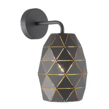 ITALUX HARLEY texturált burával fali lámpa fekete, E27, IT-MBM-3480/1 GR+GD