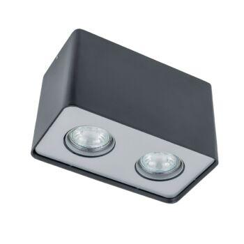ITALUX HARRIS mennyezeti lámpa 2 foglalattal, fekete, 3000K melegfehér, GU10, 500 lm, IT-FH31432S-BL