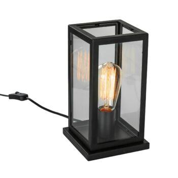 ITALUX LAVERNO asztali lámpa fekete, E27, IT-MT-202621-1-B