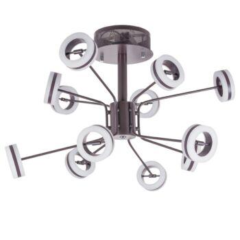 ITALUX METIS mennyezeti lámpa barna, 3000K melegfehér, beépített LED, 4000 lm, IT-AX16002-12A COFFEE