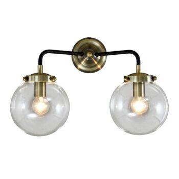 ITALUX ODELIA fali lámpa 2 foglalattal, antikolt, E14, IT-MB1009-2