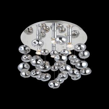 LUXERA AMARILLO mennyezeti lámpa 6 foglalattal, króm, GU10, 46119