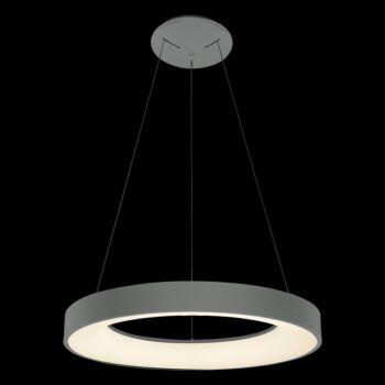 LUXERA GENTIS gyűrűs függeszték szürke, 4000K természetes fehér, beépített LED, 3000 lm, 18406