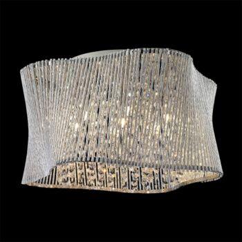 LUXERA ZONDA mennyezeti lámpa 7 foglalattal, alumínium, G9, 46104