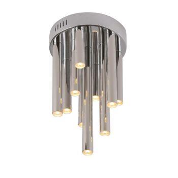 Maxlight ORGANIC mennyezeti lámpa, króm, 3000K melegfehér, beépített LED, 600 lm, 10x1W, MAXLIGHT-C0117