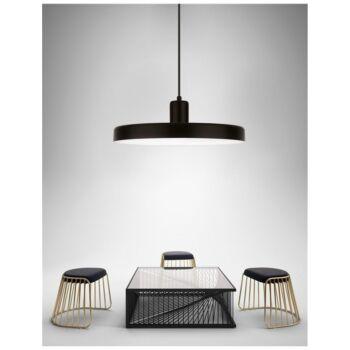 Nova Luce CHIOTO 1 ágú függeszték, fekete, E27 foglalattal, max. 1x60W, 540601