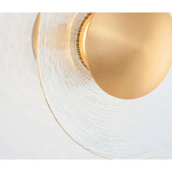 Nova Luce ESIL fali lámpa, arany, 3000K melegfehér, beépített LED, 4W, 245 lm, 9118514