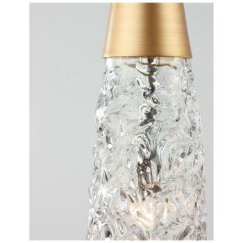 Nova Luce KOVAC 1 ágú függeszték, arany, G9 foglalattal, max. 1x5W, 9160191