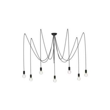 Nowodvorski SPIDER BLACK több ágú függeszték, fekete, E27 foglalattal, 7x42W, TL-6785