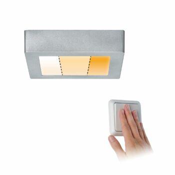 Paulmann 797.91 Carpo LED panel, 170 mmx170 mm, négyzet, 3-step-dim to warm, matt króm, 2300K-3000K változtatható, beépített LED, 1200 lm, IP20