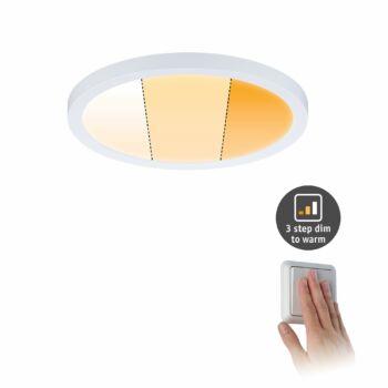 Paulmann 929.89 Areo Varifit LED panel, kerek, 3-step-dim to warm, fehér, 2000K-4000K változtatható, beépített LED, 1700 lm, IP44