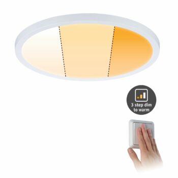 Paulmann 929.90 Areo Varifit LED panel, kerek, 3-step-dim to warm, fehér, 2000K-4000K változtatható, beépített LED, 2000 lm, IP44