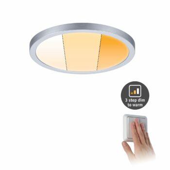 Paulmann 929.91 Areo Varifit LED panel, kerek, 3-step-dim to warm, matt króm, 2000K-4000K változtatható, beépített LED, 1700 lm, IP44