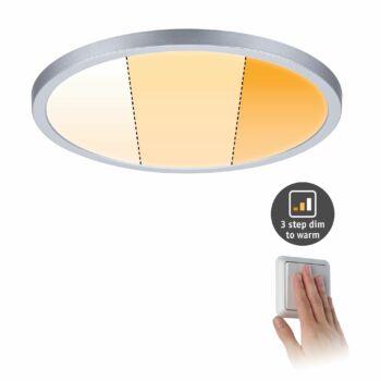 Paulmann 929.92 Areo Varifit LED panel, kerek, 3-step-dim to warm, matt króm, 2000K-4000K változtatható, beépített LED, 2000 lm, IP44