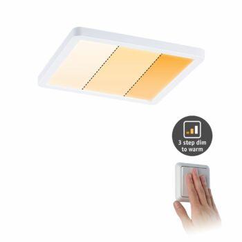 Paulmann 929.93 Areo Varifit LED panel, négyzet, 3-step-dim to warm, fehér, 2000K-4000K változtatható, beépített LED, 1800 lm, IP44