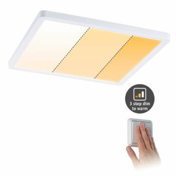 Paulmann 929.94 Areo Varifit LED panel, négyzet, 3-step-dim to warm, fehér, 2000K-4000K változtatható, beépített LED, 2200 lm, IP44