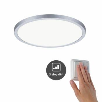 Paulmann 930.58 Areo Varifit LED panel, 3-step-dimming, matt króm, 4000K természetes fehér, beépített LED, 2200 lm, IP44