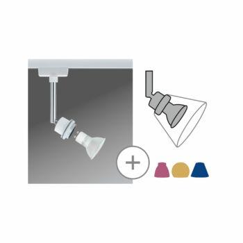 Paulmann 951.86 URail DeoSystems sínre szerelhető GU10 szpot foglalat 3,5W 2700K LED fényforrással, bura nélkül, fehér