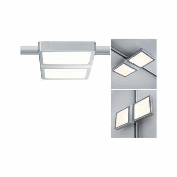 Paulmann 953.09 URail Double sínre szerelhető lámpa, beépített LED, 230V, 9W, 2700K melegfehér, 490 lm, króm