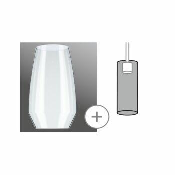 Paulmann 953.51 URail 2Easy Vento bura, üveg, max. 50W, áttetsző