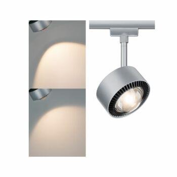 Paulmann 955.19 URail Aldan sínes LED spotlámpa, beépített LED, 9W, 820 lm, 2700K melegfehér, matt króm/fekete