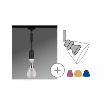Paulmann 969.12 URail Basic-Pendulum sínre szerelhető függeszték, E14 foglalattal, max. 20W, matt fekete