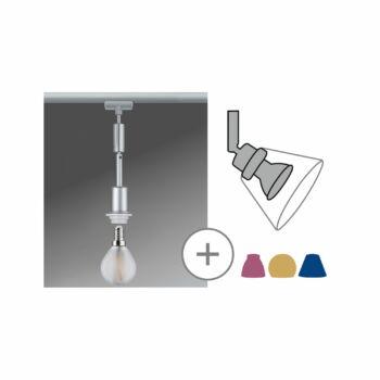 Paulmann 969.69 URail Basic-Pendulum sínre szerelhető függeszték, bura nélkül, E14 foglalattal, max. 20W, matt króm
