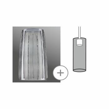 Paulmann 998.52 URail 2Easy Drio üvegbura 2Easy E27 foglalathoz, 15 cm, füstüveg