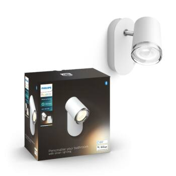 Philips Hue Adore fürdőszobai fali lámpa, fehér, GU10, 5,5W, IP44, White Ambiance, 2200K-6500K+DimSwitch, Bluetooth+Zigbee, 3417831P6