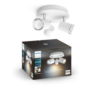 Philips Hue Adore LED mennyezeti lámpa, fürdőszobába, fehér, 3xGU10, 5,5W, IP44, White Ambiance, 2200K-6500K+DimSwitch, Bluetooth+Zigbee, 3418131P6