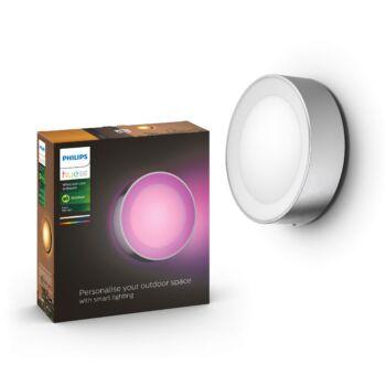 Philips Hue Daylo kültéri fali/mennyezeti lámpa, White and Color Ambiance, RGBW, 15W, 1050lm, IP44, inox, 8718696174418