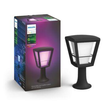 Philips Hue Econic kültéri LED állólámpa, IP44, RGBW, 1150lm, 15W, fekete, White and Color Ambiance, 1744130P7