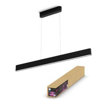 Philips Hue Ensis White and Color Ambiance LED függeszték 2 irányú, RGBW, 24V, 2x39W, 6000 lm, fekete, Bluetooth+Zigbee, 4090330P9