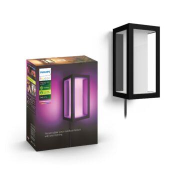 Philips Hue Impress kültéri fali lámpa, White and Color Ambiance, RGBW, 2x8W, 1200 lm, IP44, fekete, 1745930P7