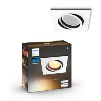 Philips Hue Milliskin süllyeszthető LED spotlámpa, négyzet, fehér, 5,5W, 350 lm, White Ambiance, 2200K-6500K, Bluetooth+Zigbee, 5042131P9