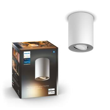 Philips Hue Pillar fehér mennyezeti LED GU10 spot, White Ambiance, 2200K-6500K, Bluetooth+Zigbee, 5633031P9