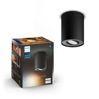 Philips Hue Pillar fekete mennyezeti lámpa GU10 spot, White Ambiance, 2200K-6500K, Bluetooth+Zigbee, 5633030P9