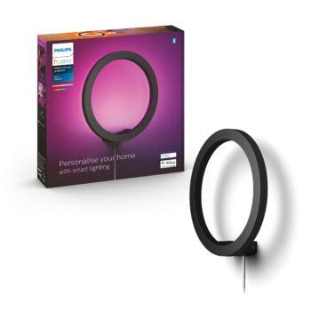 Philips Hue Sana fali LED lámpa, fekete, 20W, 24V, IP20, RGBW, 4090130P9, Bluetooth+Zigbee