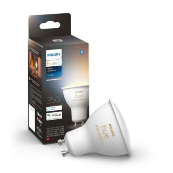Philips Hue White Ambiance GU10 LED fényforrás, 2700K-6500K 5,2W, 350 lm, Bluetooth+Zigbee, 8718699628673