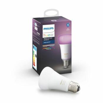 Philips Hue White and Color Ambiance E27 LED fényforrás, RGBW, 9W, 806 lm, Bluetooth+Zigbee, 8718699673109