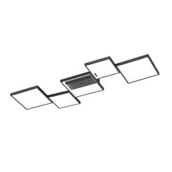 TRIO SORRENTO mennyezeti lámpa, fekete, 3000K melegfehér, beépített LED , 3400 lm, TRIO-627710532