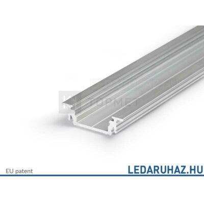 Topmet Groove14 süllyesztett alumínium LED profil, natúr alu (előlap: E,F) - A3020000 - 2m