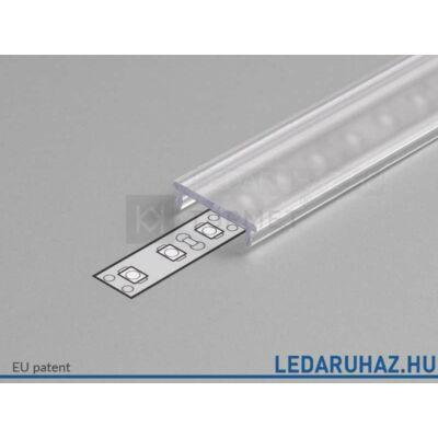 Topmet LED profil előlap F víztiszta - A2060016 - 2m