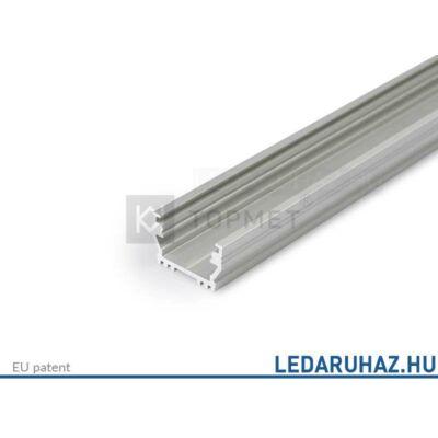 Topmet Uni12 alumínium LED profil, ezüst eloxált (előlap: B, C, D) - A1020020 - 2m