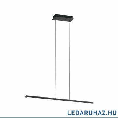 EGLO 93896 PELLARO függesztett LED lámpa, 110cm hosszú, fekete, beépített LED, 30W, TunableWhite, 3200lm, fényerőszabályozható