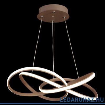 LUXERA PASSO gyűrűs függeszték barna, 3000K melegfehér, beépített LED, 2700 lm, 18202
