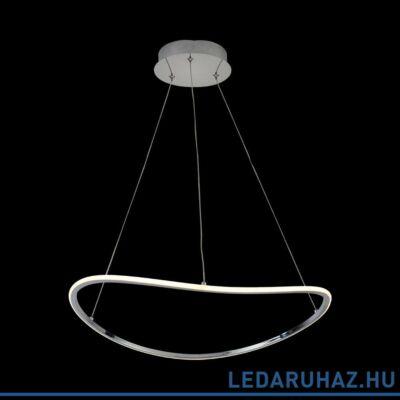 LUXERA SONNO gyűrűs függeszték króm, 3000K melegfehér, beépített LED, 2100 lm, 18203