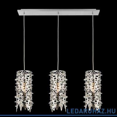 LUXERA VITRA többágú függeszték 3 foglalattal, rozsdamentes acél (inox), E14, 64366